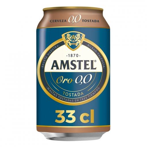 Amstel Oro 0,0 Tostada Lata Pack x24uds